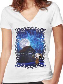 SherDOG Holmes Women's Fitted V-Neck T-Shirt