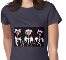 The Three Funny Girls Womens Fitted T-Shirt