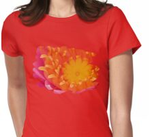 Looking Inside a Pink Water Lily  Womens Fitted T-Shirt