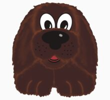 Children's Brown Fuzzy Puppy Dog One Piece - Short Sleeve