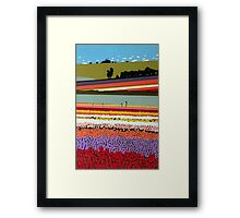 Tip-Toeing through the Tulips Framed Print