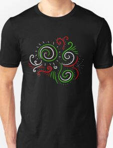 Holiday Swirl : Christmas Winter Abstract Design Unisex T-Shirt