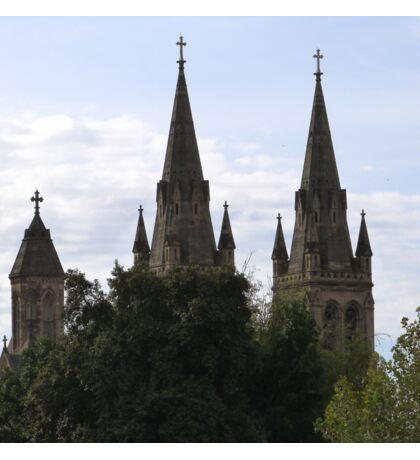 'A Sense of Place', Beautiful Spires of St. Peters Anglican Cathedral. Adelaide C.B.D.  Sticker
