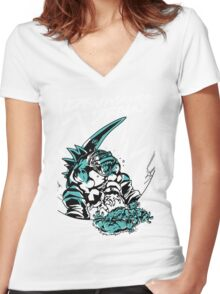 Devastator Dragon - Finisher Ver. 2 Women's Fitted V-Neck T-Shirt