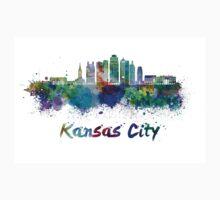 Kansas City V2  skyline in watercolor One Piece - Long Sleeve