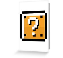 8 bit retro Question block Greeting Card