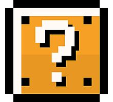 8 bit retro Question block Photographic Print