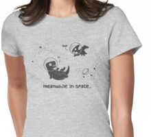 Meanwhile, In Space... (Grey) Womens Fitted T-Shirt