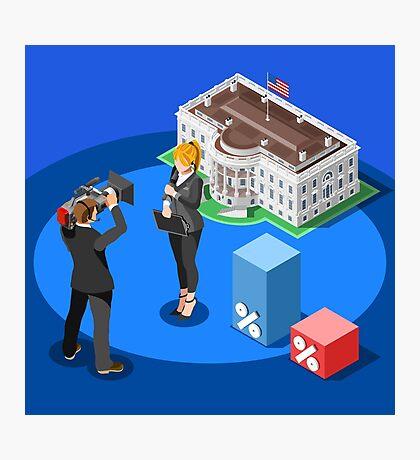 Election News White House USA Infographic Photographic Print
