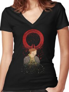 Falling Apart - Circle Women's Fitted V-Neck T-Shirt