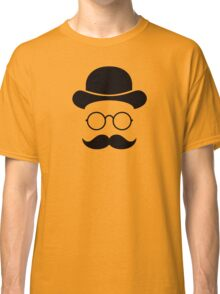 Retro /Minimal vintage face with Moustache & Glasses Classic T-Shirt
