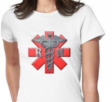 Nurse and Cross Womens Fitted T-Shirt