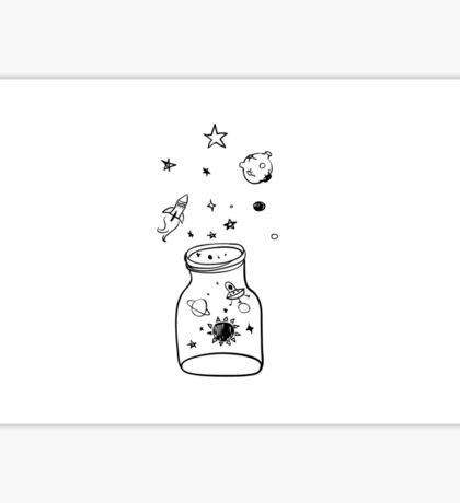 galaxy in a jar Sticker