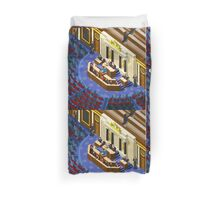 Election Infographic Parliament Hall Duvet Cover