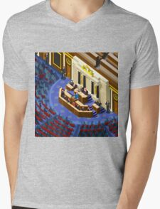 Election Infographic Parliament Hall Mens V-Neck T-Shirt