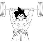 Goku Weightlifting by CROMULENT