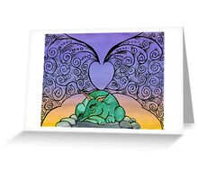 Sleeping Dragon Greeting Card