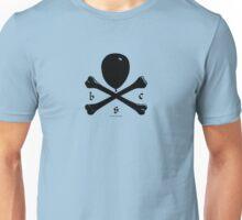 Balloon & Crossbones, Black Unisex T-Shirt