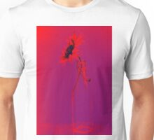 Colorful gentle drawing of flower in a glass bottle Unisex T-Shirt