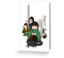 Tolkien Time - The Fellowship Greeting Card
