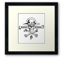 One Piece No Marines No Problem Framed Print