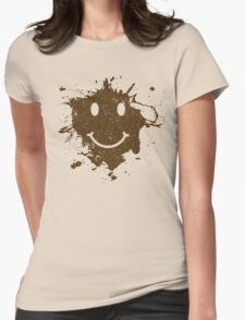 Vintage Mud Smiley Womens Fitted T-Shirt