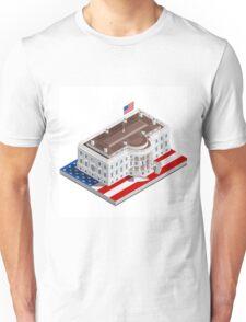 Election Infographic USA White House Unisex T-Shirt