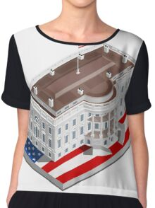 Election Infographic USA White House Chiffon Top
