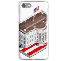 Election Infographic USA White House iPhone Case/Skin
