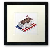 Election Infographic USA White House Framed Print