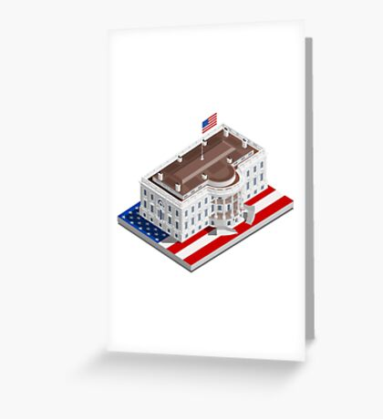 Election Infographic USA White House Greeting Card