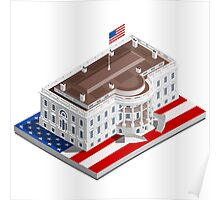 Election Infographic USA White House Poster