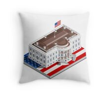 Election Infographic USA White House Throw Pillow