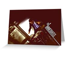 The Immediates drums Greeting Card
