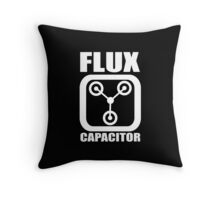 FLUX CAPACITOR, Funny, Humor Throw Pillow