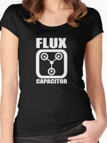 FLUX CAPACITOR, Funny, Humor Women's Fitted Scoop T-Shirt
