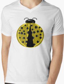 Yellow Ladybug Children T-shirt Mens V-Neck T-Shirt