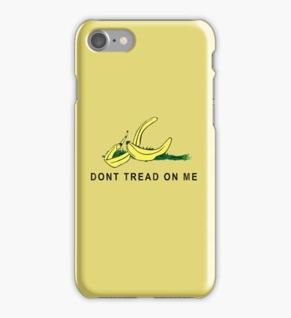 Vintage Banana Gadsen Flag Spoof iPhone Case/Skin