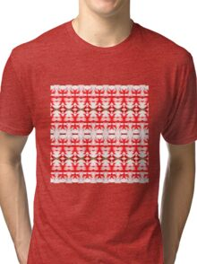 Red Flower White (VN.220) Tri-blend T-Shirt