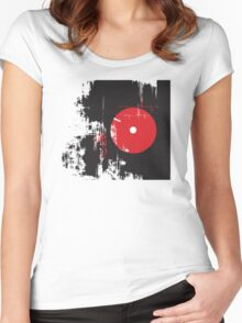 Faded Vinyl Women's Fitted Scoop T-Shirt