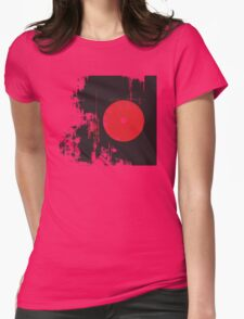 Faded Vinyl Womens Fitted T-Shirt