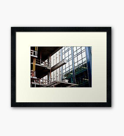 Construction Prongs Framed Print