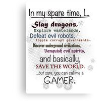 Gamer Pride Canvas Print