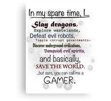 Gamer Pride Canvas Print