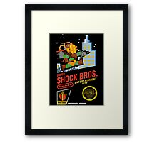 Super Shock Bros Framed Print