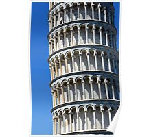 Leaning tower from the world famous Piazza dei Miracoli in Pisa, Italy. Poster