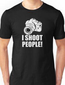 I Shoot People, Funny, Photographer, Camera Photography Unisex T-Shirt