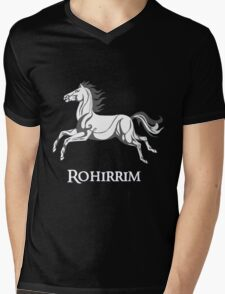 White horse of Rohan Mens V-Neck T-Shirt