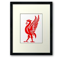 Liverpool Liver Bird Red  Framed Print