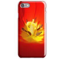 red tulip close up iPhone Case/Skin